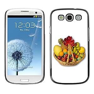 TopCaseStore / la caja del caucho duro de la cubierta de protección de la piel - Fruit Macro Fruit Basket - Samsung Galaxy S3 I9300
