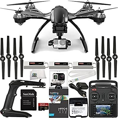 YUNEEC Typhoon G Quadcopter with GB20 Gimbal for GoPro (RTF) & Manufacturer Accessories + Extra 5400mAh LiPo Flight Battery + GoPro HERO4 Black + SanDisk Extreme PRO 32GB microSDHC Memory Card + MORE