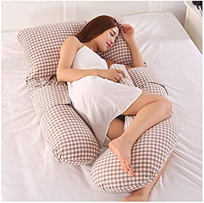 Full Body Pillow U Shaped Pregnancy Pillow for Pregnant Women /& Maternity Brown
