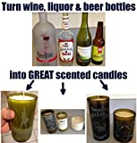 Deluxe Candle Making Kit & Supplies – with Glass Bottle Cutter to Make Candles Out of Wine Bottles – with 2 LB Soy Wax, 2 Scents, Wicks + Holders & Pitcher