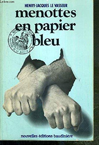 Menottes en papier bleu