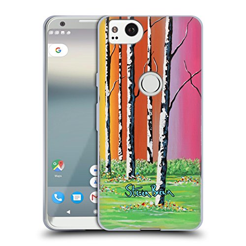 Seemly Steven Brown Caledonian Forest Nature Soft Gel Case for Google Pixel 2