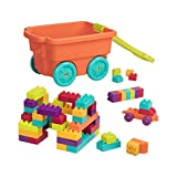 Battat Locbloc Wagon Building Toy Blocks for Toddlers (54 pieces)