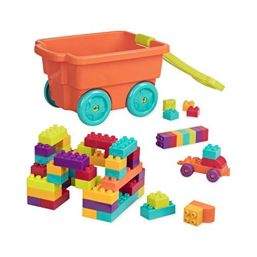 Battat Locbloc Wagon Building Toy Blocks for Toddlers (54 (Mega Blocks Wagon)