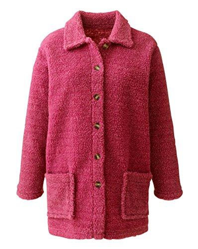 Pink Williams Dusky Fleece Womens JD Sherpa Jacket Shirt Hwzdf