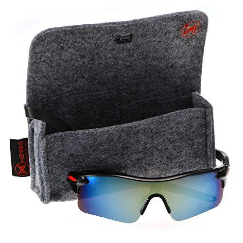 Men's cycling sunglasses bright black frame golden - Sunglasses Nordstrom Mens