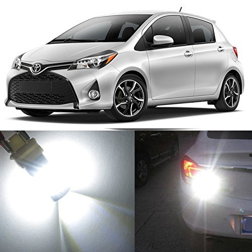 Alla Lighting 2x Super Bright 6000K White WY21W 7440 LED Bulbs for Rear Turn Signal Blinker Light Lamps for 2009 2010 2011 2012 2013 2014 2015 2016 2017 Toyota Yaris / 2006 2007 2008 Yaris Sedan only (Toyota Yaris Sedan Review)