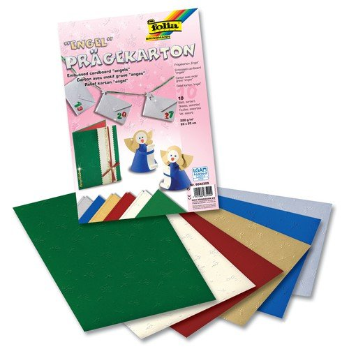 Engel Mix 5 Farben Folia Embossing Bringmann Construction Paper 220 g m², 50x70 cm, 5 or 10 Sheet