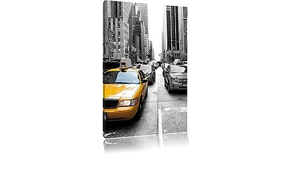 Taxi Amarillo en Nueva York negro/blanco en gran angular ...