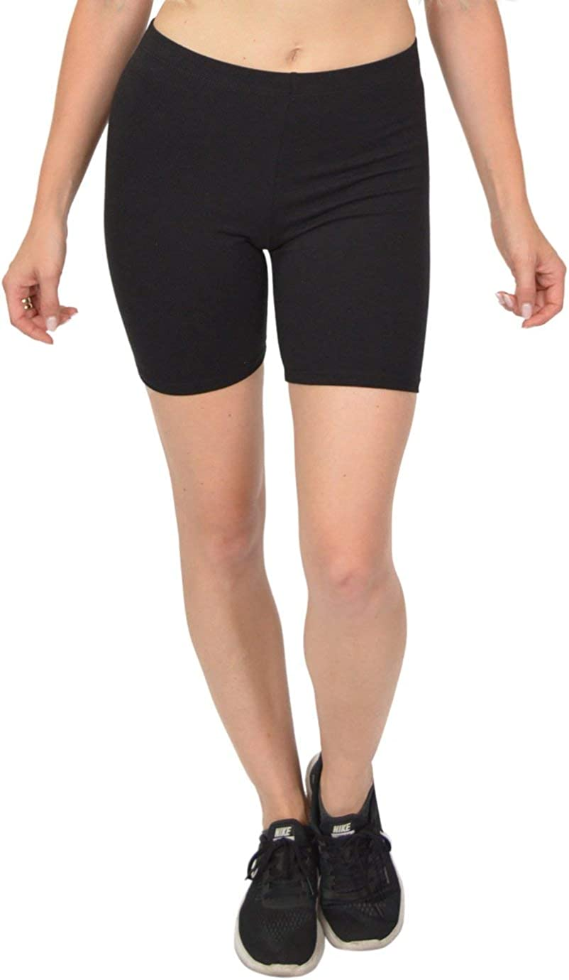 Stretch is Comfort Womens Teamwear Cotton Stretch Workout Bike Shorts