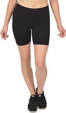 Stretch is Comfort Women's Teamwear Cotton Stretch Workout Bike Shorts