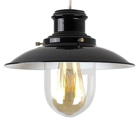 MiniSun - Pantalla para lámpara de techo de estilo linterna de pescador de espíritu vintage -