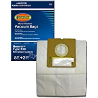 EnviroCare Replacement Micro Filtration Vacuum Bags for Hoover Type R30 Canisters 5 bags and 2 filters