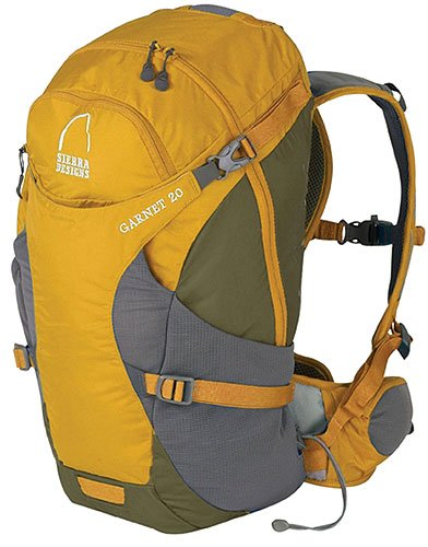 Sierra Designs Garnet 20 Day Pack (Medium/Large, Sunflower), Outdoor Stuffs