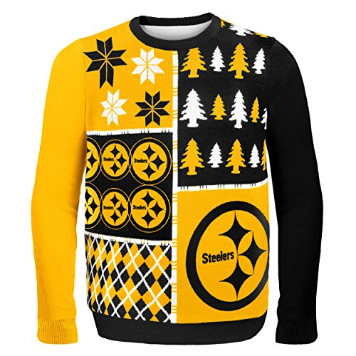 Pittsburgh Steelers Busy Block Ugly Sweater Extra Large]()