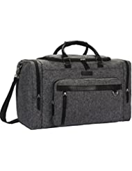 NiceEbag Vintage Duffel Bag Ultra Fiber Waterproof Weekender Duffle Travel Organizer Bag Volleyball Gym Bag Overnight...