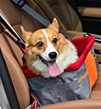 Waterproof Breathable Pet Car Mat Safety Car Seat Belt Cover Booster Bag Pet Carrier Seat Protector Travelling Car Cushion for Dog Cat Pet (Gray)