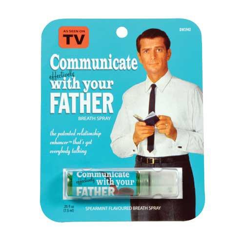 Blue Q Communicate With Dad Breath Spray by Blue Q