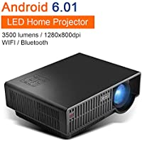 NewPal NP90C wireless WIFI smart projector with andriod 6.0 1280P HD resolution led projector support for front, rear and ceiling projection mode