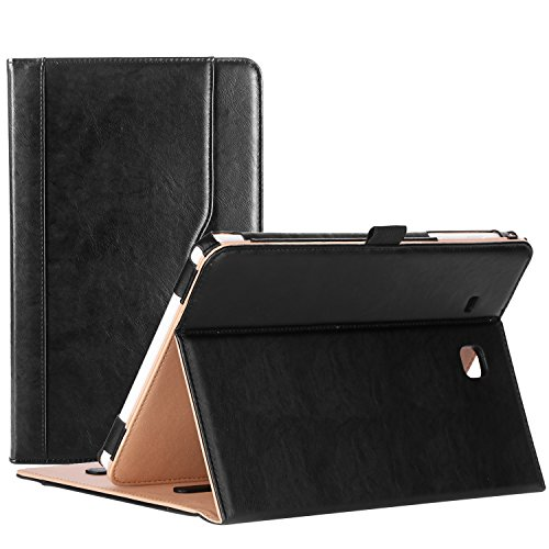 ProCase Samsung Galaxy Tab E 9.6 Case – Vintage Stand Folio Case Cover for Galaxy Tab E 9.6/ Tab E Nook 9.6-Inch Tablet (SM-T560 / T561 / T565 and SM-T567V Verizon 4G LTE Version) -Black