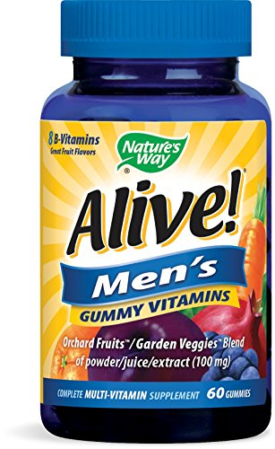 Alive Multivitamin Gummy Vitamins tablets, 60 Count