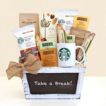 Amazon.com: Take a Break! Gourmet Coffee & Tea Gift Basket ...