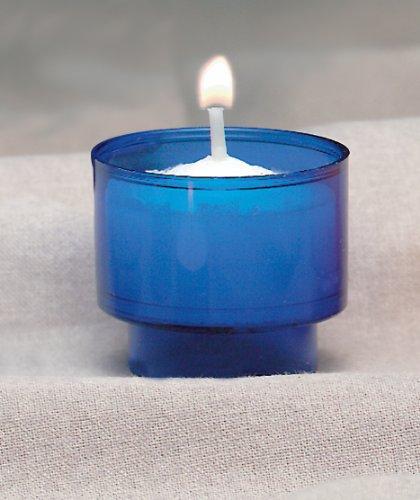 4 Hour Disposable Votive (Blue) - Cathedral Candle Votive