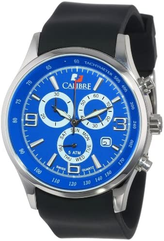 Calibre Men s SC-4M1-04-003 Mauler Stainless Steel Chronograph Tachymeter Day Date Watch