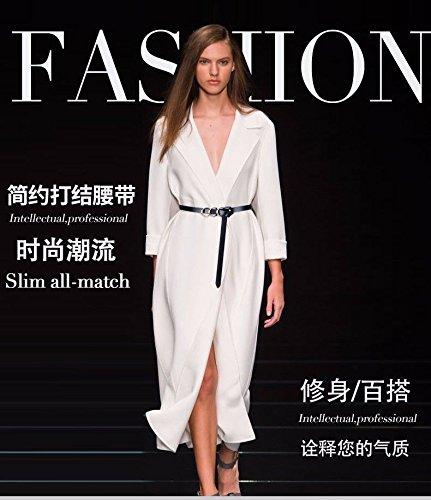 c58319a249019d LONFENN Frauen Ms Lady Gürtel Binden Kleid Pullover Fashion Trend Echt  Leder Gürtel Braun/B: Amazon.de: Sport & Freizeit
