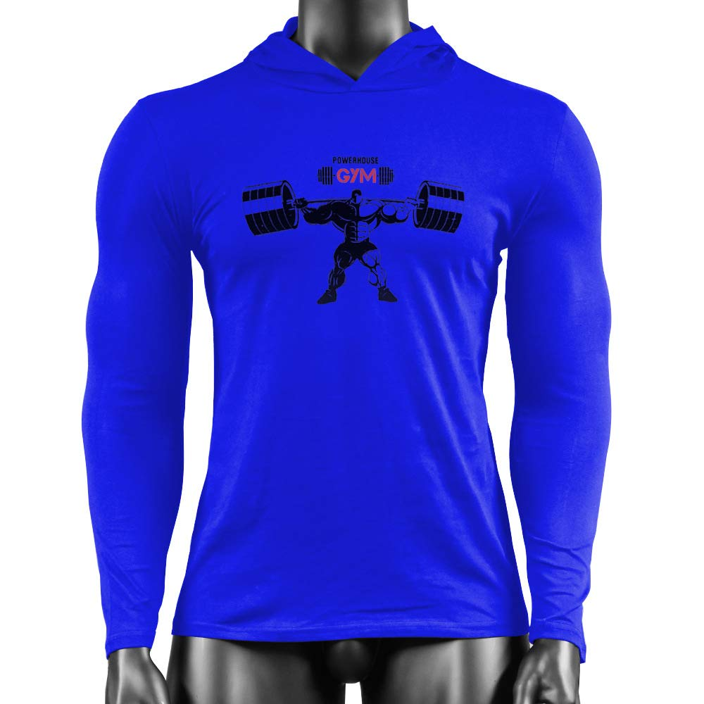 SROTER Sudadera con Capucha Gym Bodybuilding Fitness Ligera Manga Larga Camisetas Hombre