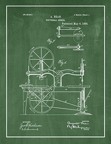 Universal Joiner Patent Print Green Chalkboard with Border