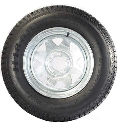 Trailer Tire On Rim ST205/75D15 F78-15 205/75-15 5 Lug Wheel Galvanized Spoke