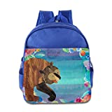 Discovery Wild Kids Child Backpack Satchel School Book Bag, Brown Bear - RoyalBlue
