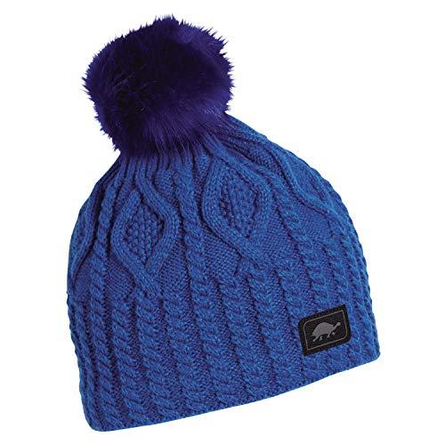 Turtle Fur Snow Globe Women's Fleece Lined Relaxed Fit Pom Winter Hat Blue