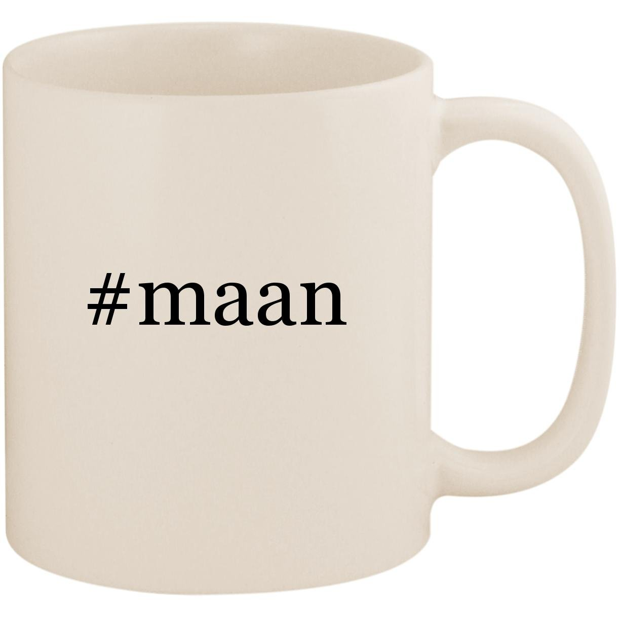 #maan - 11oz Ceramic Coffee Mug Cup, White by Molandra Products