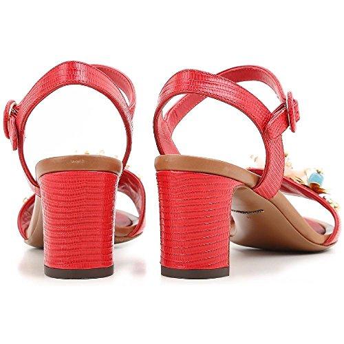 tacón CR0163 rojo Rojo becerro en Número Sandalias de de modelo de AD368 Dolce amp; piel color Gabbana 80303 C0qx6