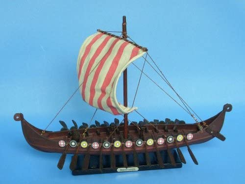 Viking Drakkar 14 – Warships from the Age of Sail – Model Ship Wood Replica – Not a Model Kit
