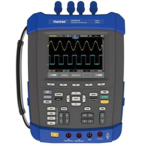 Hantek DSO8202E 200Mhz Digital Storage Oscilloscope 1GSa/s 2M Memory Depth Six in One: Oscilloscope/Recorder/DMM/ Spectrum Analyzer/Frequency Counter/Arbitrary Waveform Generator by Hantek