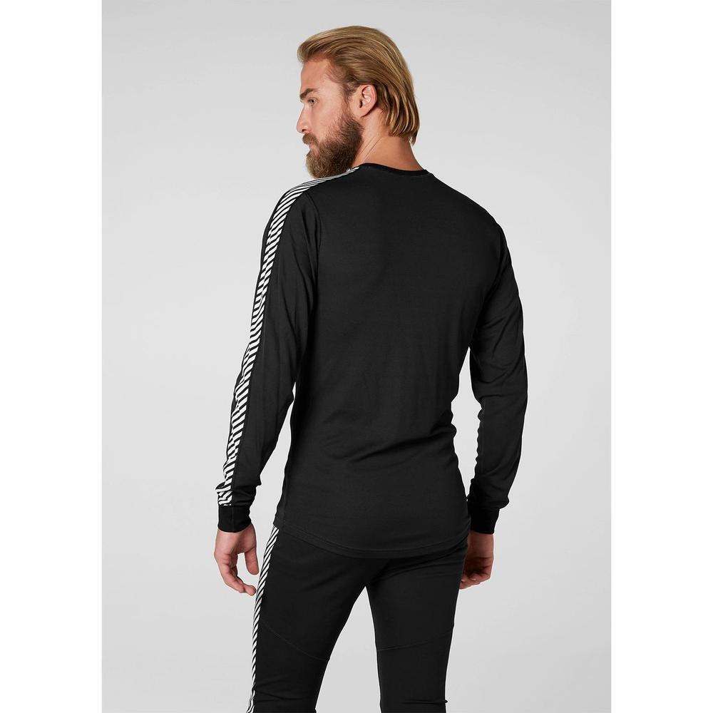 Helly Hansen Stripe Crew Tee-shirt manches longues homme Noir XL