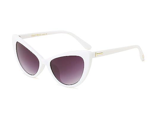 ef5b7b8b348a9 Bmeigo Lunettes de soleil Femmes Retro Vintage Lunettes yeux Œil de chat  mode Sunglasses Gradient Lens
