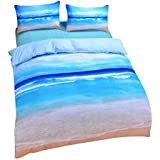 Sleepwish Ocean Themed Bedding Sea Duvet Cover Hot 3D Print Beach Bedding Set - AU King