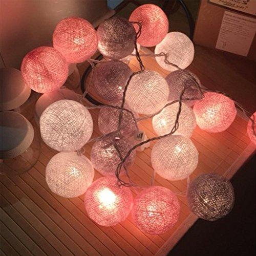 Evokem 20 Cotton Ball LED String Lights with String Fairy Night Lights for Kid Children Bedroom (320U-USB)