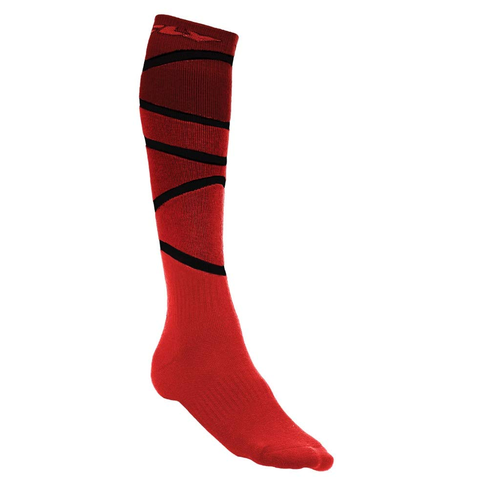 Fly Racing Unisex-Adult Mix Socks Thick (Red/Black, Small/Medium) 350-0422S
