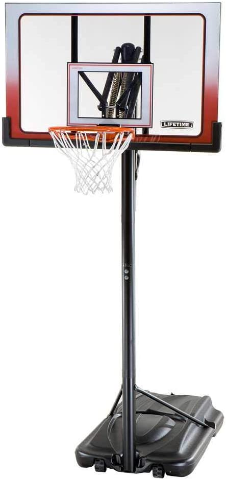 Basketball System-52 inch Lifetime 52 Shatterproof Portable One Hand Height Adjustable Set of 1