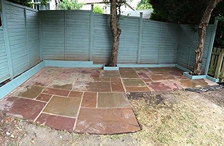 indian sandstone paving lakeland patio pack - Diy Sandstone Patio
