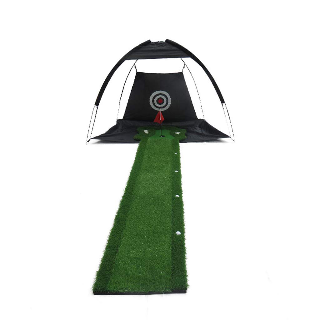 Golf putter pad Golf Practice Hitting Mat Rubber Tee Holder Golf Practice Mat with Perfect Touch Practice Net