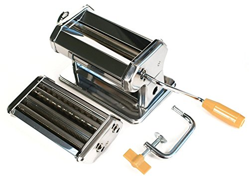 Fox Run Pasta Machine Chrome Steel Fettuccine/lasagna/tagliatelle Hand Operated