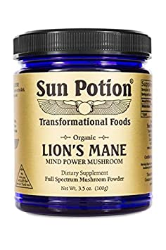 Lions Mane Mushroom Powder – Superfood Extract Organic Dietary Supplement – Adaptogenic Nootropic Herb for Memory, Mental Clarity, Athletic Recovery, and Health – Non GMO Vegan