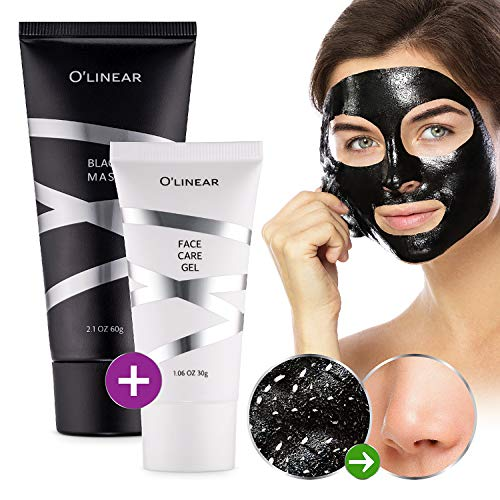 Black Charcoal Mask Blackhead Remover - Face Peel Off Mask With Natural Activated Organic Bamboo Charcoal - Deep Cleansing Pore Blackhead Removal - Purifying Face Mask & Face Care Gel for Women & Men