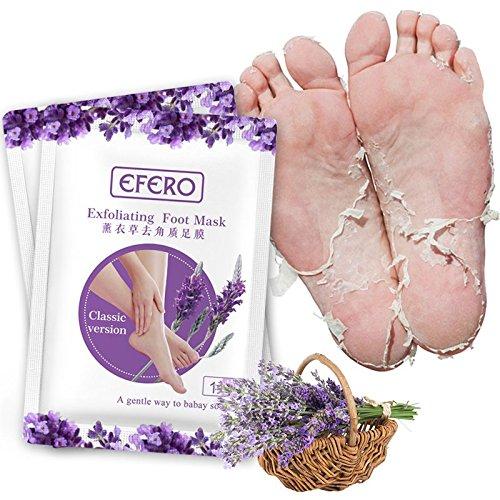 Premium Fußmaske zur Entfernung von Hornhaut I Samtweiche und zarte Füße nach nur einer Anwendung I Exfoliating Foot Mask Efero